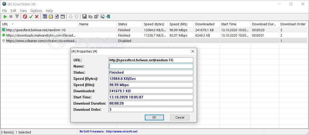 Downloadgeschwindigkeit Messen