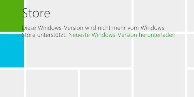 R.I.P. Windows RT? Store funktioniert nicht mehr (Update: Nicht bei allen Nutzern)