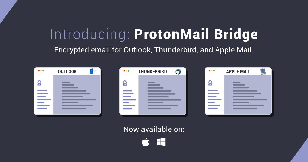 ProtonMail Bridge für Windows und Mac OS vorgestellt › Dr