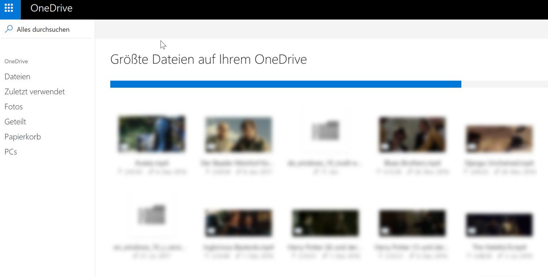 OneDrive-Tipp: Speicherfresser ausfindig machen