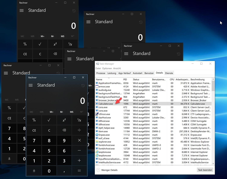 Viele Fenster, aber nur ein Prozess - UWPs unter Windows 10