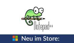 Notepad++ erneut im Microsoft Store verfügbar