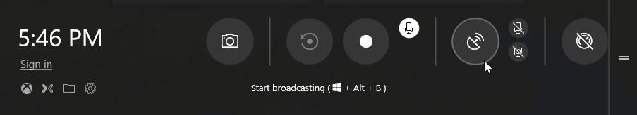 Die überarbeitete Game Bar in Windows 10 Version 1803