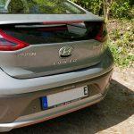 Heckansicht des Hyundai Ioniq Elektro.