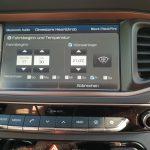 Einstellung zur Vorklimatisierung über das Hyundai Radio-Navigationssystem.