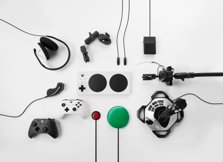 Xbox Adaptive Controller mit Zubehör