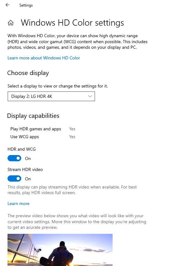 HD-Video-Einstellungen in Windows 10