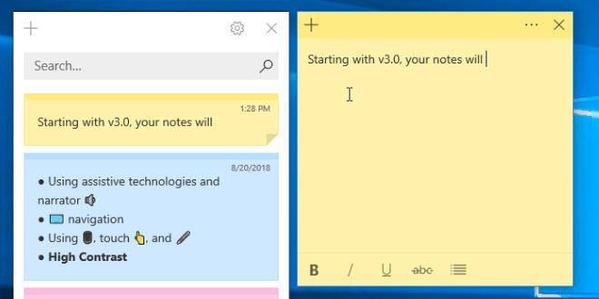 Sticky Notes kleben bald auf dem Desktop