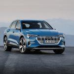 Audi e-tron quattro in Antigua blue.