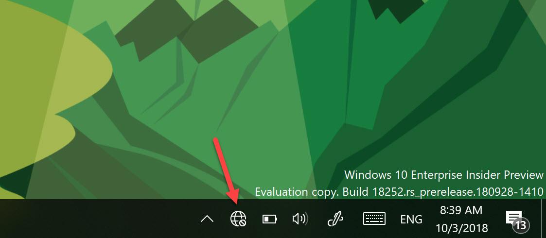 Dieses Icon zeigt an, dass keine Internetverbindung besteht