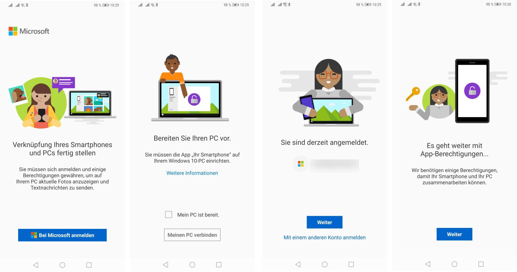 Einrichtung der PC-Companion App für Windows 10