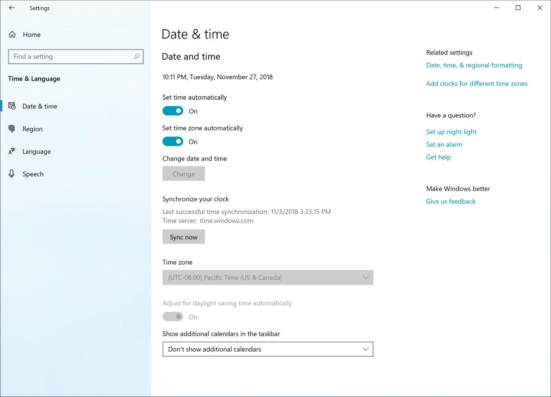 Windows 10 Insider Build 18290 - Einstellungen
