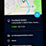 Zieleingabe mit Google-Suche via MINI Connected-Smartphone-App.
