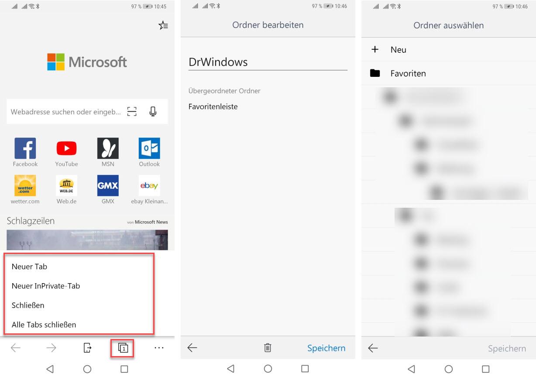 Microsoft Edge für Android