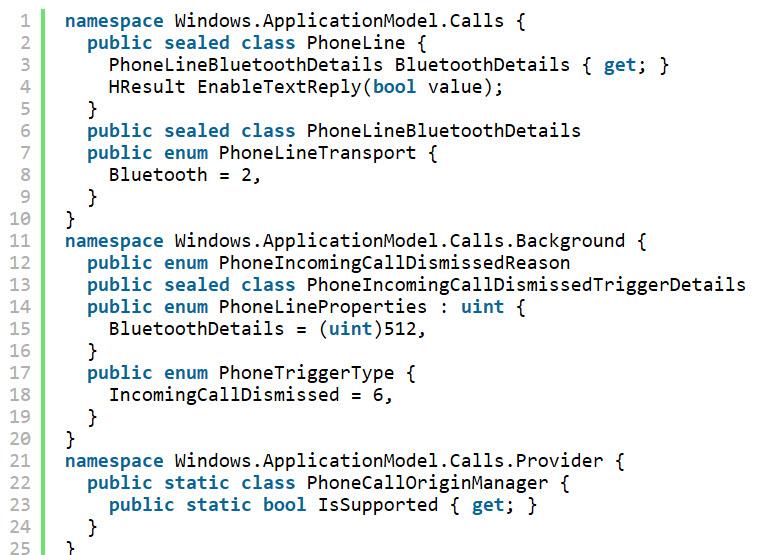 Neue Telefon-APIs in Windows 10