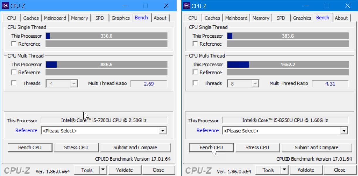 Surface Laptop 1 und 2 im Benchmark-Vergleich