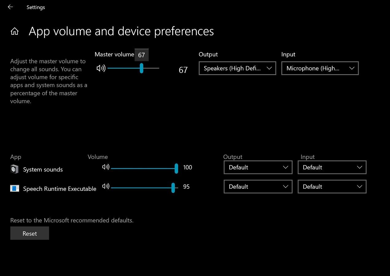 Neue Lautstärke-Einstellungen in Windows 10