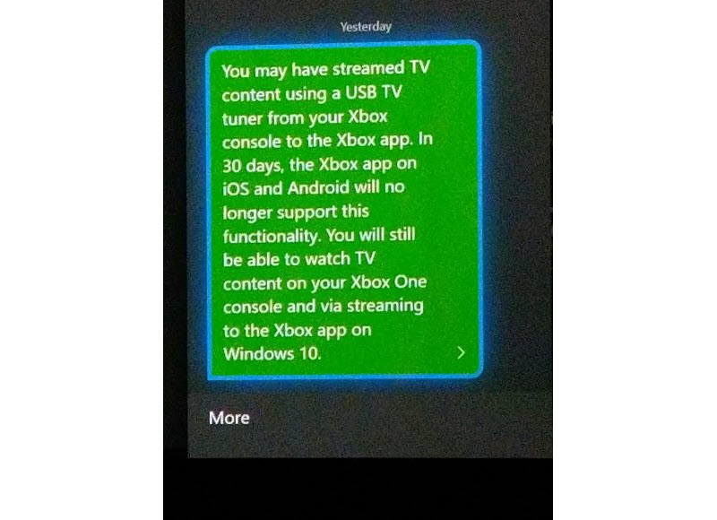 TV Streaming von der Xbox zu iOS und Android bald nicht mehr möglich