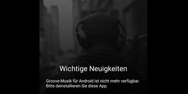 Pünktlich: Groove Music für Android und iOS quittiert den Dienst