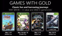 Games with Gold im März 2019 mit bekannten Namen