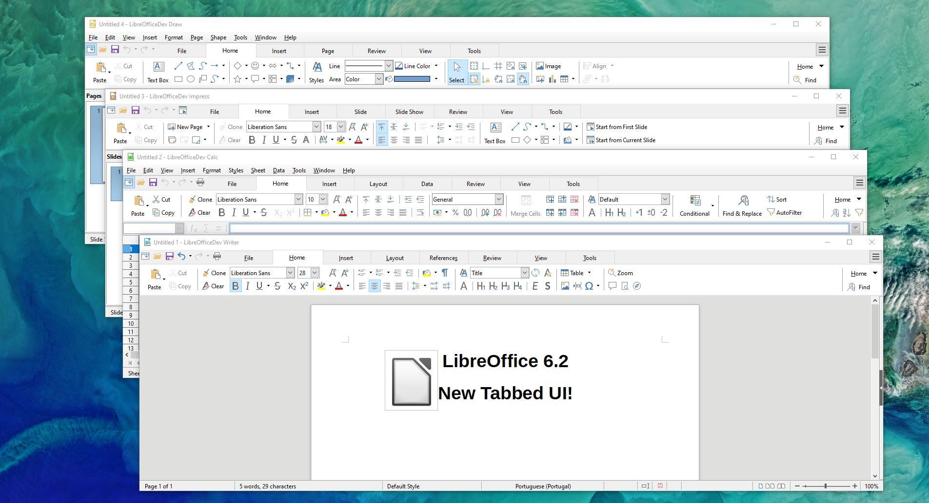 Neue Oberfläche für Libre Office
