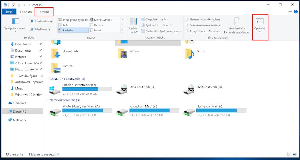 Windows 10 Explorer Schnellzugriff