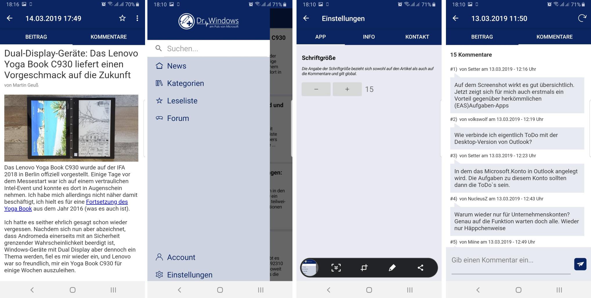 Dr Windows App für Android