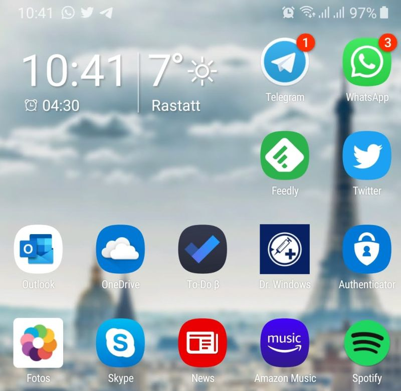 Neues Outlook Icon unter Android