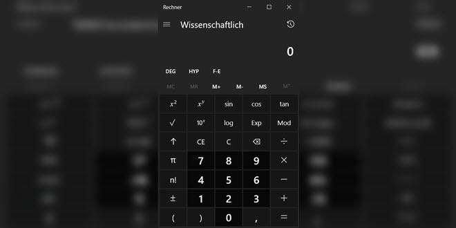 Windows 10: Microsoft stellt die Rechner-App unter die MIT-Lizenz