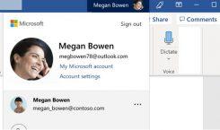 Microsoft: Einfacher Konto-Wechsel in allen Apps und Diensten in Arbeit