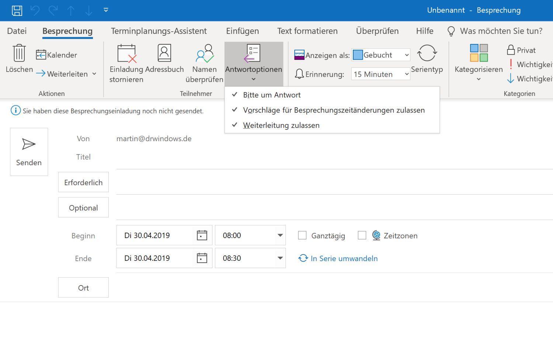 Microsoft Outlook: April-Update bringt zahlreiche Kalender