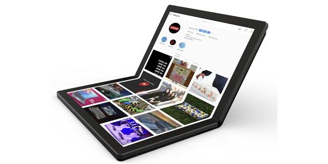 Windows mit Knick: Lenovo zeigt Prototyp eines Laptops mit faltbarem Display