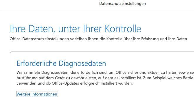 Microsoft Office: Neue Datenschutz-Einstellungen für mehr Transparenz