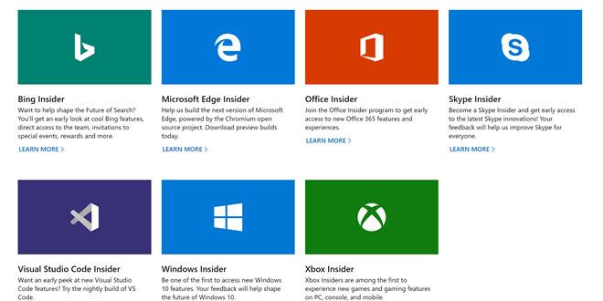Microsoft errichtet Portal für alle seine Insider Programme