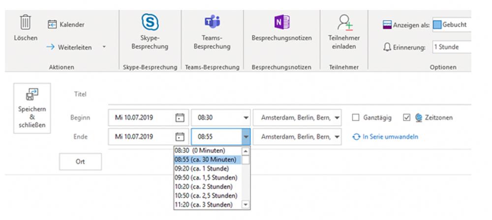 Outlook Kalender Lifehack