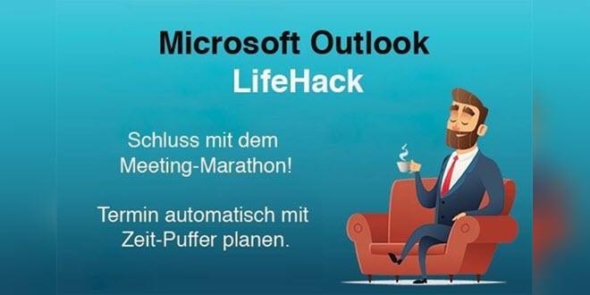 Outlook LifeHack: Wie der Kalender die Kaffeepause selbst einplant