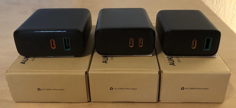 AUKEY Ladegeräte der Serie PA-D