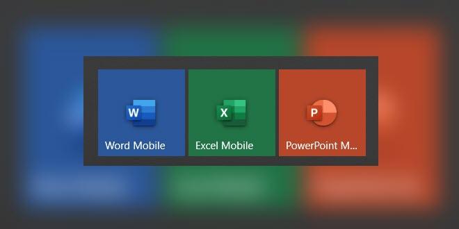 Mobile Office Apps erhalten neue Fluent Design Icons