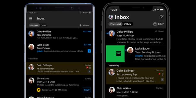 Outlook macht den Anfang: Dark Mode für Office Mobile kommt