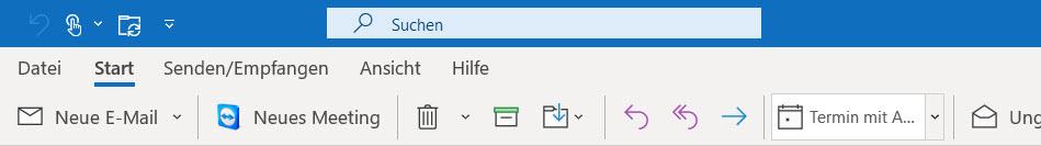 Neue Outlook Suche in Office 365