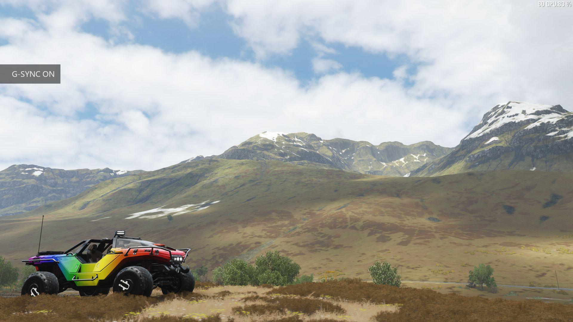 Forza Horizon 4 auf dem HP Omen X2 S