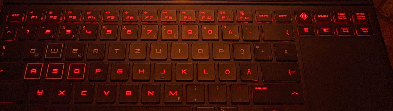 Tastatur des HP Omen X 2S