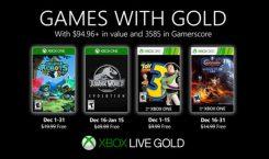 Jurassic World Evolution, Toy Story 3 und mehr: Die Games with Gold im Dezember 2019
