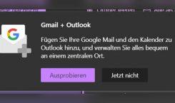 Microsoft integriert Gmail, Google Drive und Google Kalender in Outlook.com