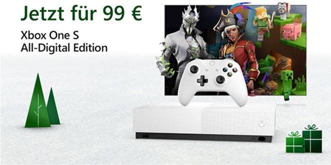 Xbox One S All Digital Edition zum Kampfpreis von 99 Euro