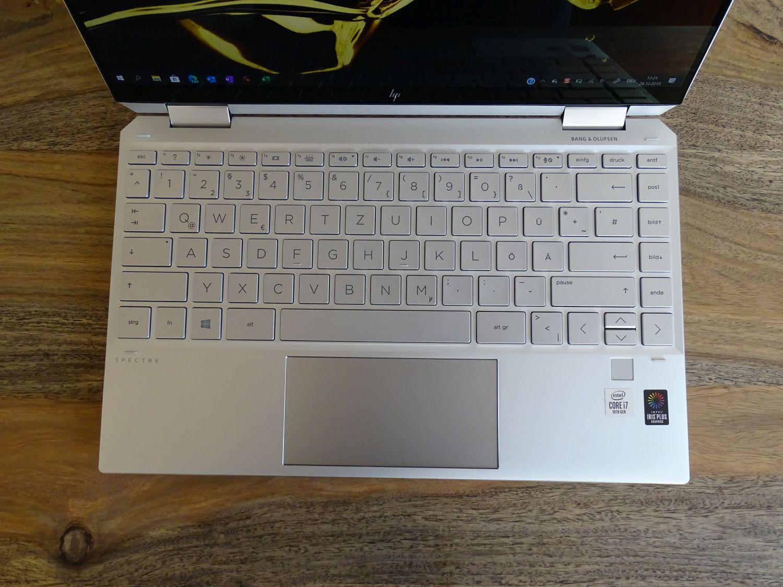 HP Spectre x360 2019 Tastatur und Touchpad