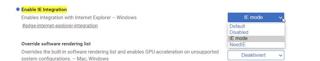 IE Modus in Microsoft Edge aktivieren