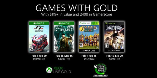 Xbox Live Games with Gold im Februar: Rasen, Rätseln, Sammeln und Ballern