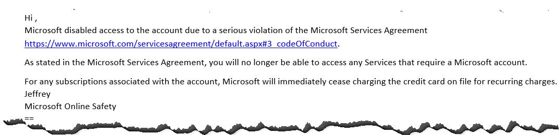 Microsoft Kontosperrung - Antwort auf den Einspruch