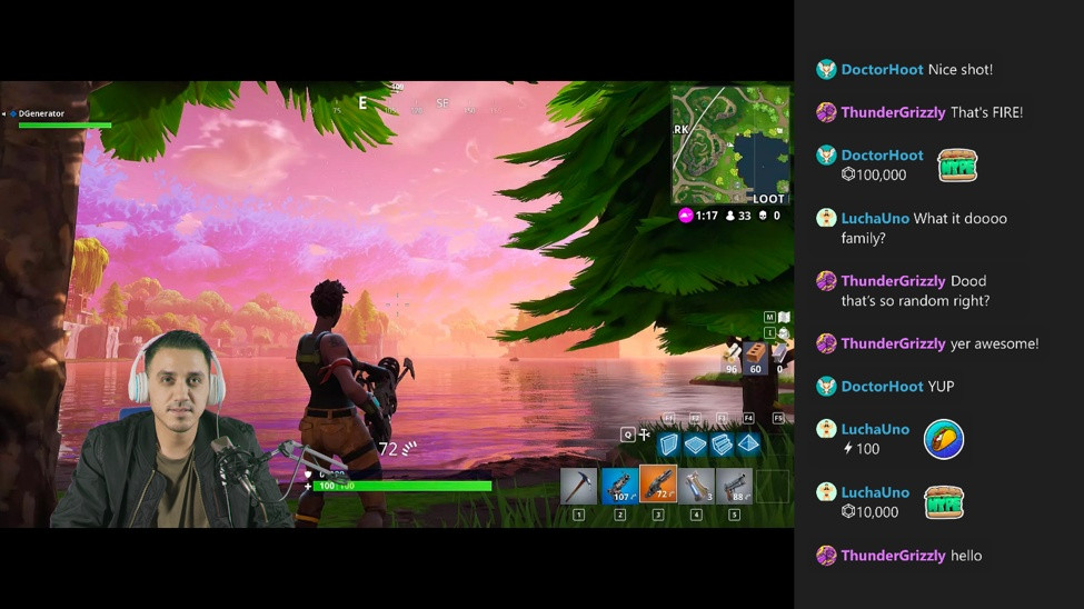 Chat-Spalte in Mixer
